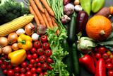 Fototapety Fresh vegetables background - harvest concept
