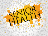 Senior health word cloud concept