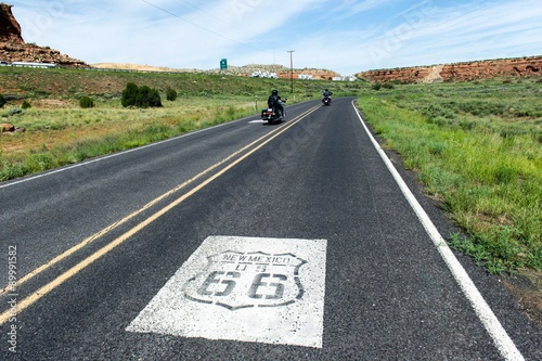 Spoed canvasdoek 2cm dik Route 66 Route 66, New Mexico