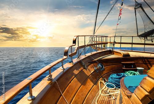 Fototapeta Sailboat and sea
