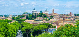 Fototapety aerial view of rome from the top of aventine hill in rome, which offers view of capitoline hill, vittoriano monument and basilica of saint peter in vatican.
