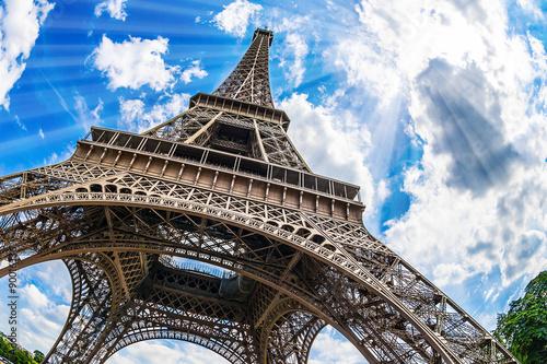 Eiffelturm - Weitwinkel Aufnahme