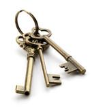 Fototapety 古い鍵/白背景のレトロな鍵