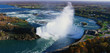 This is an aerial view of the Horseshoe Falls. It is the view from Skylon Tower in Canada.