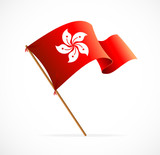 Illustration flag of Hong Kong