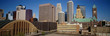 This is the compact skyline of Minneapolis in daylight.