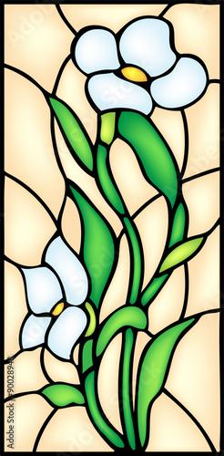 kwiaty-ogrodowe-kwiat-witraz-wektor