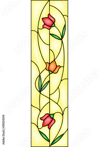tulipan-witraz-wektor