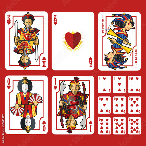 Playing Cards Hearts Heart Suit Playing Cards Full