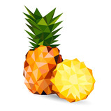 Fototapety Vector illustration of a pineapple
