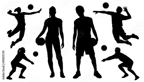voleyball silhouettes