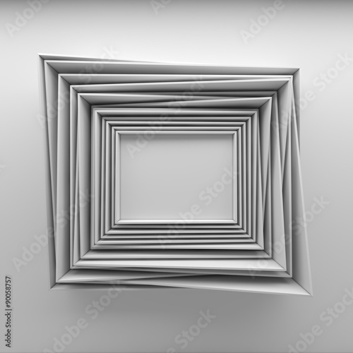 blank paper frames on white wall © dymentyd