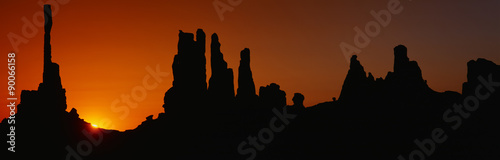 Silhouette of Arizona desert rock formations