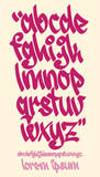 Graffiti alphabet - Handwritten - Vector lowercase font