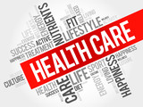 Health care word cloud, health concept