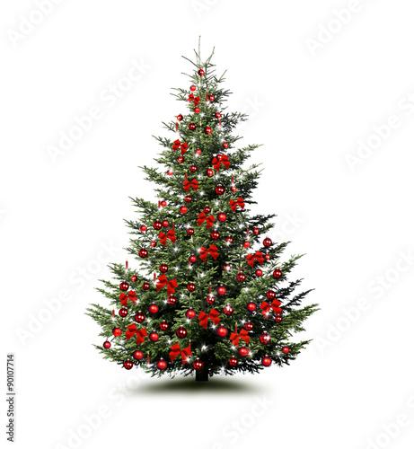 gamesageddon weihnachtsbaum isoliert in rot geschm ckt mit teddyb ren lizenzfreie fotos. Black Bedroom Furniture Sets. Home Design Ideas