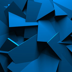 Blue Abstract Chaotic Design Wall Background © VERSUSstudio