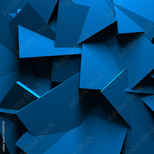 Blue Abstract Chaotic Design Wall Background