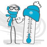 Fototapety Kälteeinbruch - thermometer