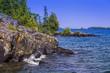 Lake Superior Shoreline, Isle Royale National Park, Michigan, USA.