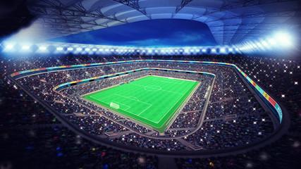 Fototapeta oświetlony stadion piłkarski