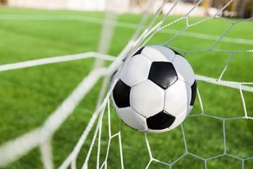 Fototapeta piłka w siatce gol