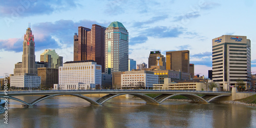 Fotografiet Downtown Columbus Ohio Skyline