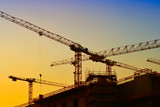 Baukräne auf der Baustelle des Stadtschlosses in Berlin