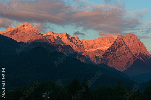 Zugspitze und Alpspitze Poster