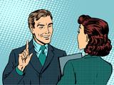 Fototapety Business meeting between boss and subordinate
