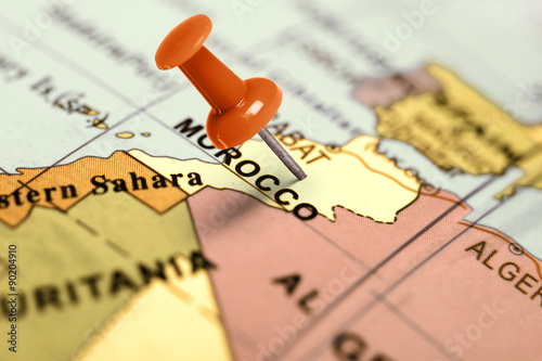 Location Morocco. Red pin on the map.