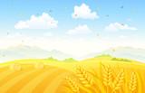 Autumn fields background - 90210922