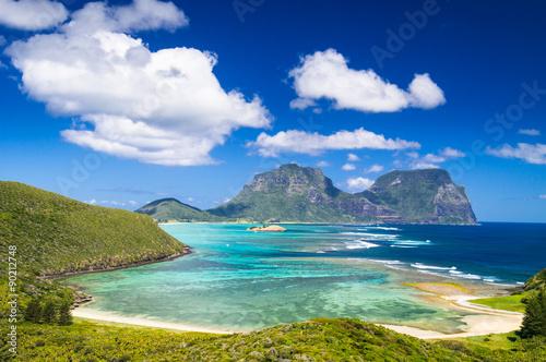 fototapeta na ścianę View over Lord Howe Island lagoon, Australia