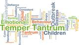 Temper tantrum background concept