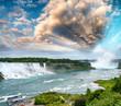 Niagara Falls. Wonderful scenario of water and vegetation