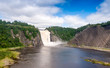 Stunning view of Montmorency Falls, Canada