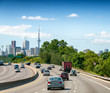 Toronto skyline as seen from interstate
