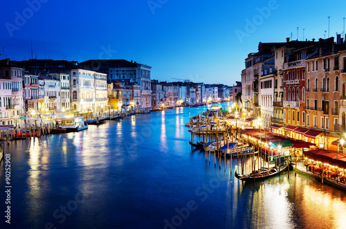 Zdjęcia na płótnie, fototapety na wymiar, obrazy na ścianę : Grand Canal in sunset time, Venice, Italy