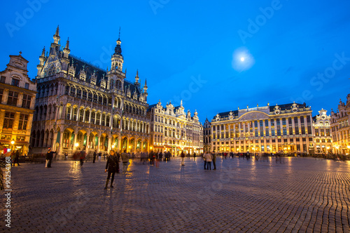 Foto op Canvas Brussel Grand Place Belgium