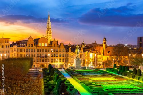 Foto op Canvas Texas Brussels Cityscape Belgium