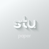 Fototapety letter S T U logo alphabet icon paper set background