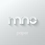 Fototapety letter M N O logo alphabet icon paper set background