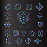 Fototapety Sacred geometry forms, shapes of lines, logo, sign, symbol