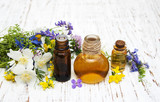 Fototapety Nature oil with wildflowers