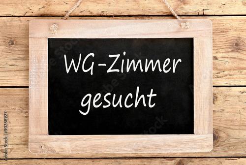 Holztafel WG-Zimmer gesucht Poster