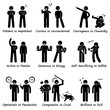 Human Personalities Opposite Values Positive vs Negative Stick Figure Pictogram Icons