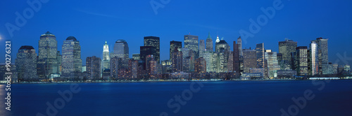 Foto op Canvas Milan Panoramic view of Lower Manhattan and Hudson River at dusk, where World Trade Towers were located, NY
