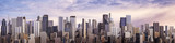 Fototapety Day city panorama / 3D render of daytime modern city under bright sky