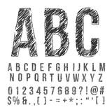 pencil font - 90293903