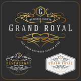 Fototapety Luxurious Royal Logo Vector Re-sizable Design Template Suitable For Businesses and Product Names, Luxury industry like Resort, Spa, Hotel, Wedding, Restaurant and Real estate.